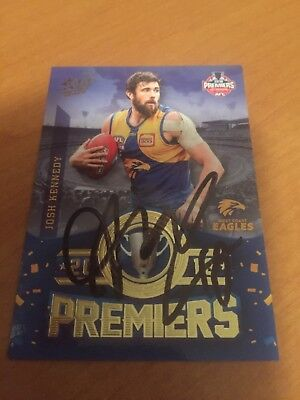 AFL Select Signed West Coast Eagles 2018 Premiers Card Josh Kennedy