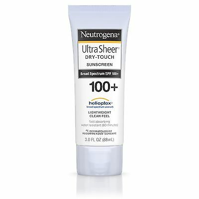 New Neutrogena Ultra Sheer Dry-Touch Sunscreen Broad Spectrum SPF 100+ 3 Fl Oz.
