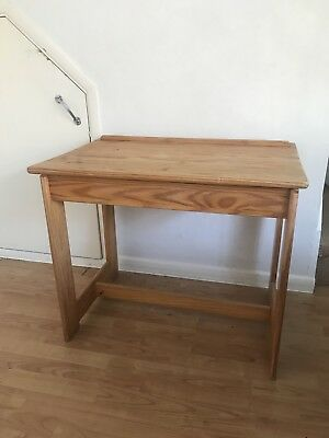 Old Style Vintage Opening Wooden School Desk Used Very Good Working Condition