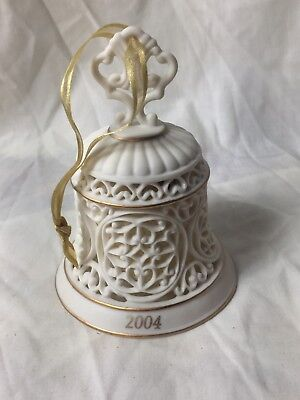 Wedgwood Ornament 2004 Annual Pierced Articulated Bisque Bell