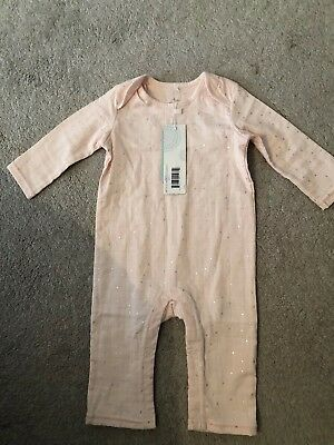 Aden Anais BNWT Baby Girls Breathable Muslin Cotton Sleepsuit Size 6-9 Months