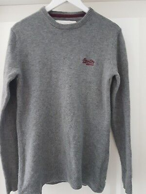 mens superdry jumper size L lambswool