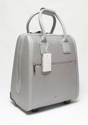 1ab6877af Ted Baker Stunning Practical Silver Croc Embossed Cabin Luggage Holdall Bag  Bnwt