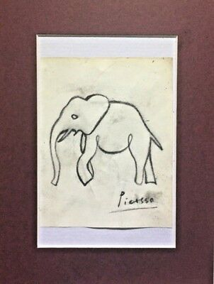 Picasso - The Elephant - pencil on paper