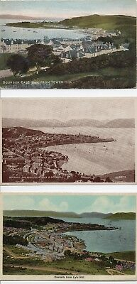 3 x PC  GOUROCK  Firth of Clyde      (2col/1sepia) (2p/u 1 posted)