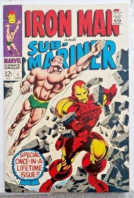 * IRON Man & Sub-Mariner 1 (NM 9.0) Autographed by Archie Goodwin SWEET!!! *