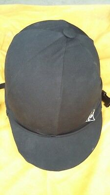 Riding helmet . Womens Charles Owen Size 56 . Black With cover