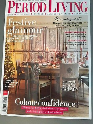 Period Living Magazine January 1/2018 Issue 332 Festive Glamour January 2018
