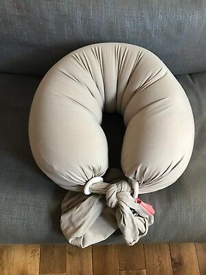 BBhugme Pregnancy & Nursing Pillow in Stone. Excellent Condition.