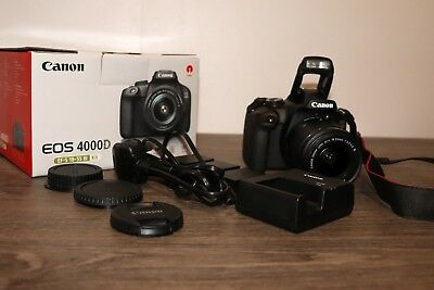 Canon EOS 4000D DSLR Digital Camera Kit with 18-55mm Lens and extra batteries
