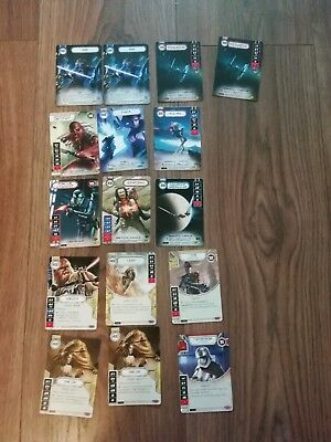 Star Wars Destiny Job lot Of 10 Promos 6 legendaries and 57 Rares