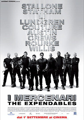 Carteles cartel I MERCENARI film gioco mural cine 29,7x42 cm. civil war