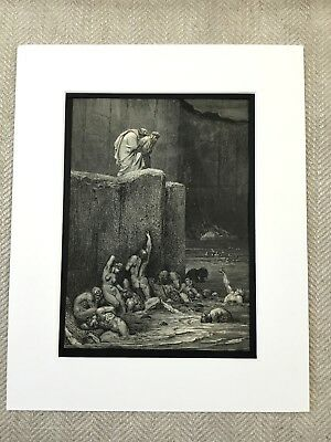 Visions of Hell Greed Dante's Inferno Gustave Dore Engraving Antique Print