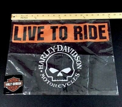 "Harley Davidson Flag 18""x13"" Banner Live To Ride"
