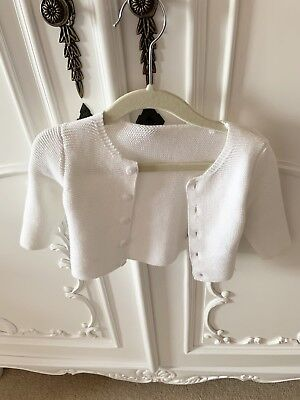 🌸MOTHERCARE🌸Baby Girl Or Boy White Cardigan 1-3 Months
