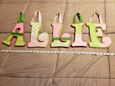 """Decorative Hanging Wooden Wall Letters """"ALLIE"""""""