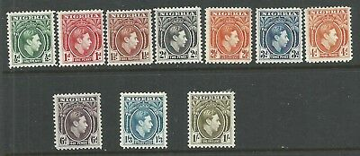 NIGERIA YR.1938-. KGV SET of TEN. MH.VF