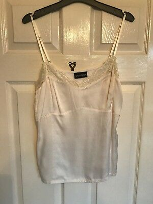 Cream /Ivory Silk Front With Soft Jersey Back Camisole From Principles Size 16