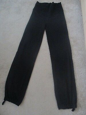 H & M Maternity Black Casual Lounge / Yoga Jersey Over the Bump Trousers Size S