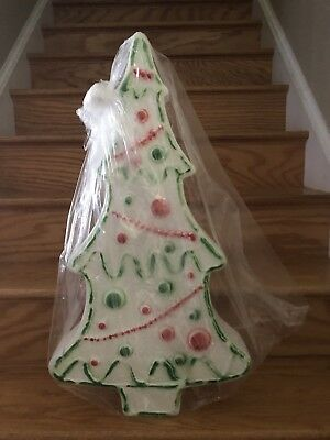 """NEW Vintage HTF 28"""" Don Feather stone Gingerbread Christmas Tree Blow Mold"""