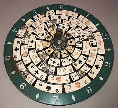 POKERETTE POKER ROULETTE SPIN/STOP GAMING WHEEL 1930'S Metal Collectors Estate
