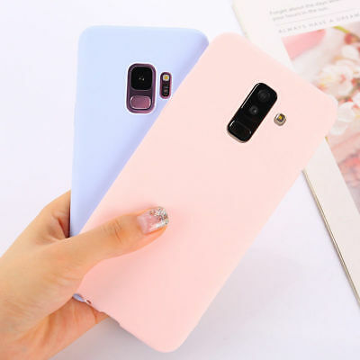Candy Color Matte TPU Phone Case For Samsung S7 S8 S9 + J4 J6 A6 A8 A7 2018 A750