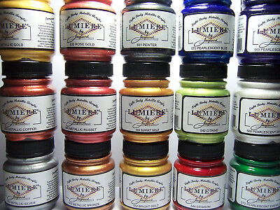 Jacquard Lumiere Metallic & Pearlescent Acrylic Paint 2.25oz Pick from 15 Colors