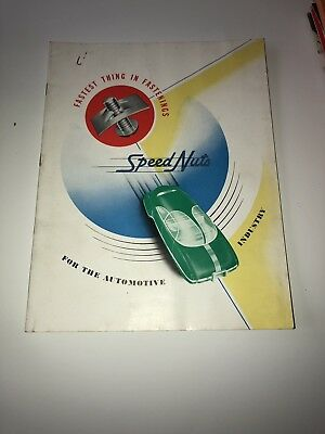 1945 Vintage Tinnerman Speed Nuts Car Automotive Brochure Catalog Guide