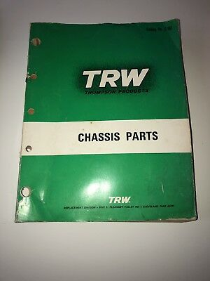 1967 Vintage TRW Thompson Products Chassis Parts Catalog Guide
