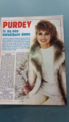 joanna lumley, 2 clippings belge ,purdey