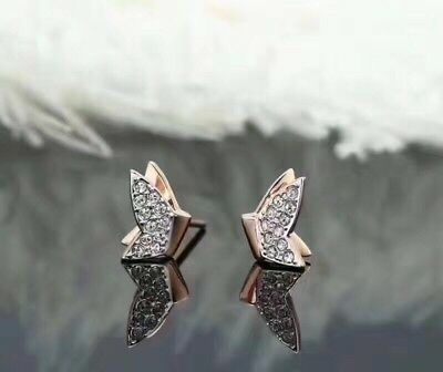 517a5a9a2 Authentic Swarovski LILIA FIG PIERCED EARRINGS,ROSE GOLD PLATING, butterfly