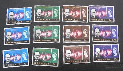 GIBRALTAR and other Churchill unmounted mint sets