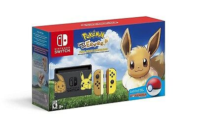 Nintendo Switch Let's Go Eevee Console Limited Edition & Monster Ball Controller