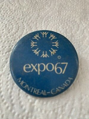 Vintage Expo 67 Montreal Canada Pin Back