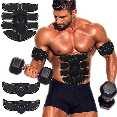 Abdominal Ems Trainer Rechargeable Toner Belt Abs Muscle Stimulator Fitness Gear