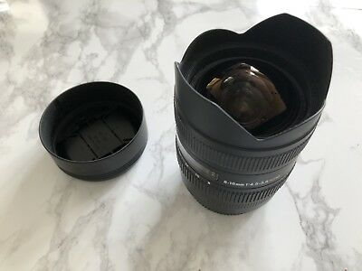 Sigma DC 8-16mm f/4.5-5.6 HSM DC Lens For Canon SHIPS FROM USA