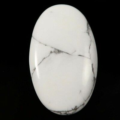 68.85 cts Natural Lovely Designer Untreated Howlite Gemstone Oval Loose Cabochon