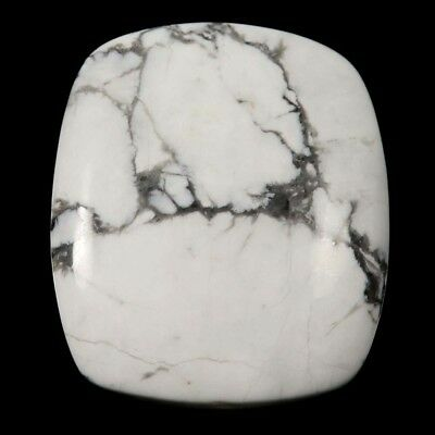 64 cts Natural Lovely Designer Untreated Howlite Gemstone Octagon Loose Cabochon