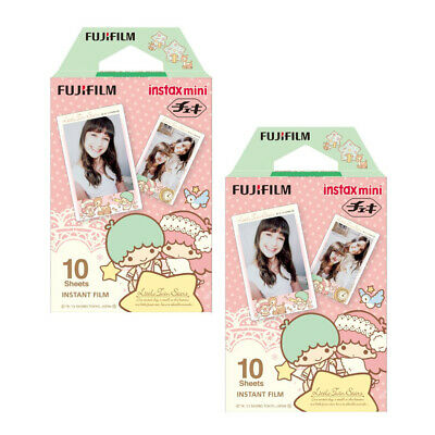 20 Sheets Fujifilm Instax Mini Film Little Twin Star Paper - Fuji Instant 8 9 25