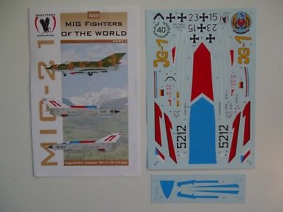 "Eagle Strike decals MiG-21 MF 1/32 ""Mig Fighters of the World Pt. II"""