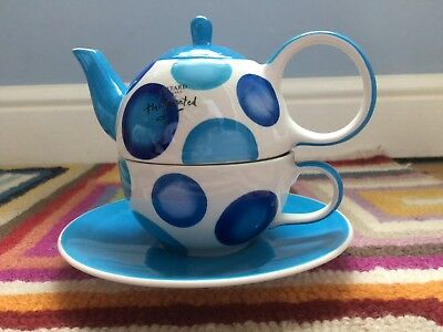 Whittard tea for one - White with Blue Spots