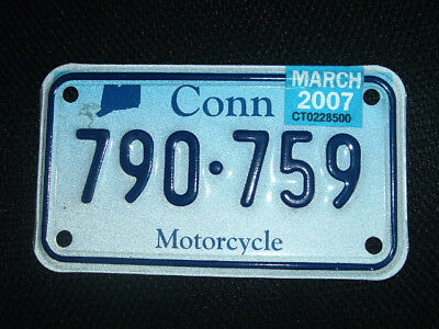CT motorcycle license plate  Conn m/c license plate