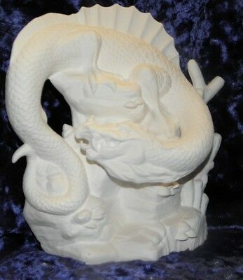Ceramic Bisque Ready To Paint Large Summer dragon