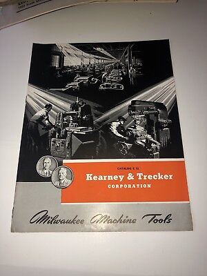 Vintage Milwaukee Machine Tools Kearney & Trecker Catalog Brochure