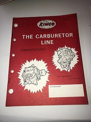1960 Vintage Kimco The Carburetor Line Remanufactured Catalog Guide Book