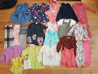 Girls Age 12-18 Months Nursery Playwear Bundle Next Denim Dress Cardigan Pyjamas
