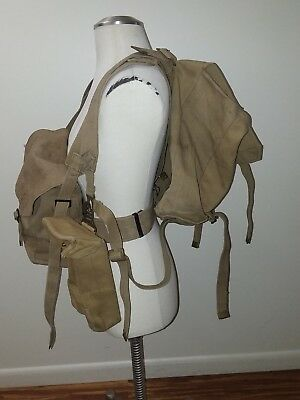 British Wwii P37 Webbing Set Packs Pouch Straps Canadian
