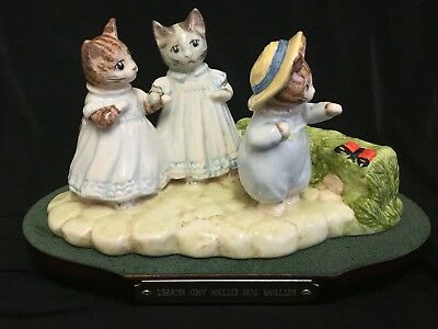 Beswick Beatrix Potter Tableau Mittens Tom Kitten & Moppet