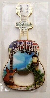 Hard Rock Cafe San Juan Bottle Opener Magnet Puerto Rico