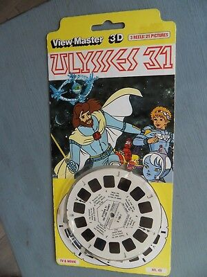 viewmaster Ulysses 31  1980s pack 21 colour 3D pics from Cult cartoon